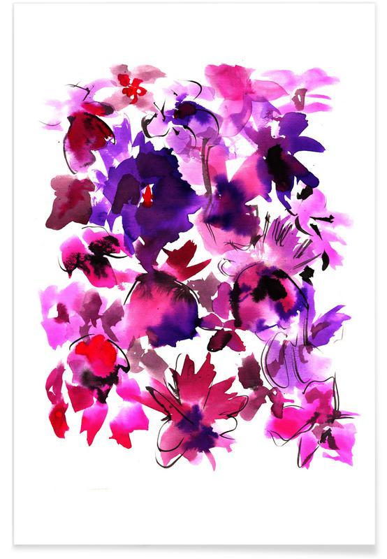 , Sara Pink Floral Poster