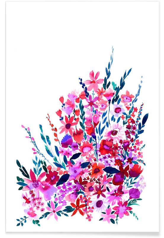 , Scarlett Floral Poster