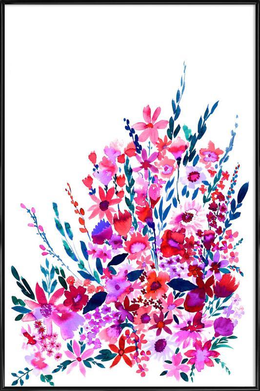 Scarlett Floral -Bild mit Kunststoffrahmen