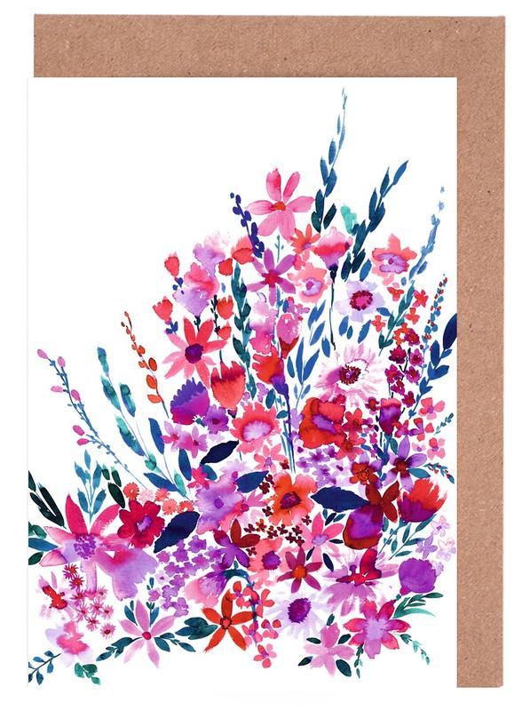 Scarlett Floral -Grußkarten-Set