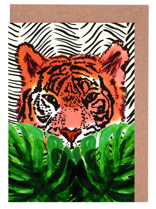 Tiger -Grußkarten-Set