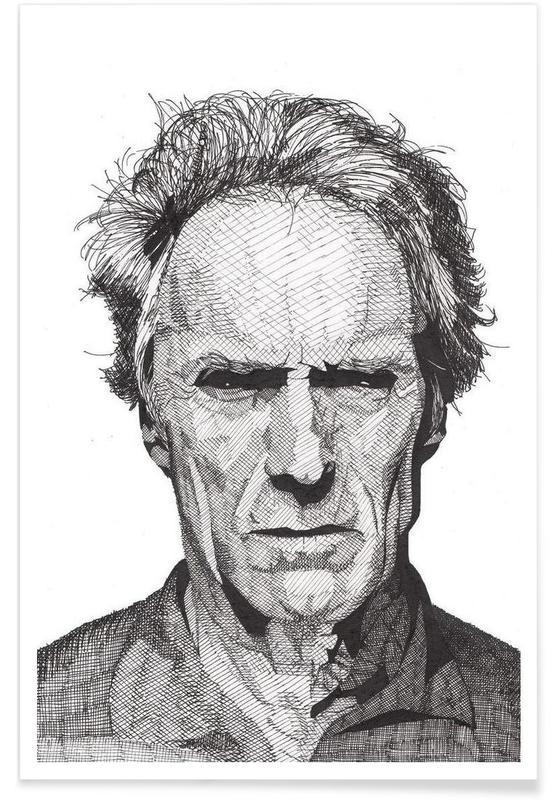 Sort & hvidt, Clint Eastwood, Clint Plakat