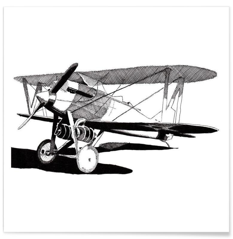Flugzeuge, Schwarz & Weiß, Curtiss CR-1 Navy Racer -Poster