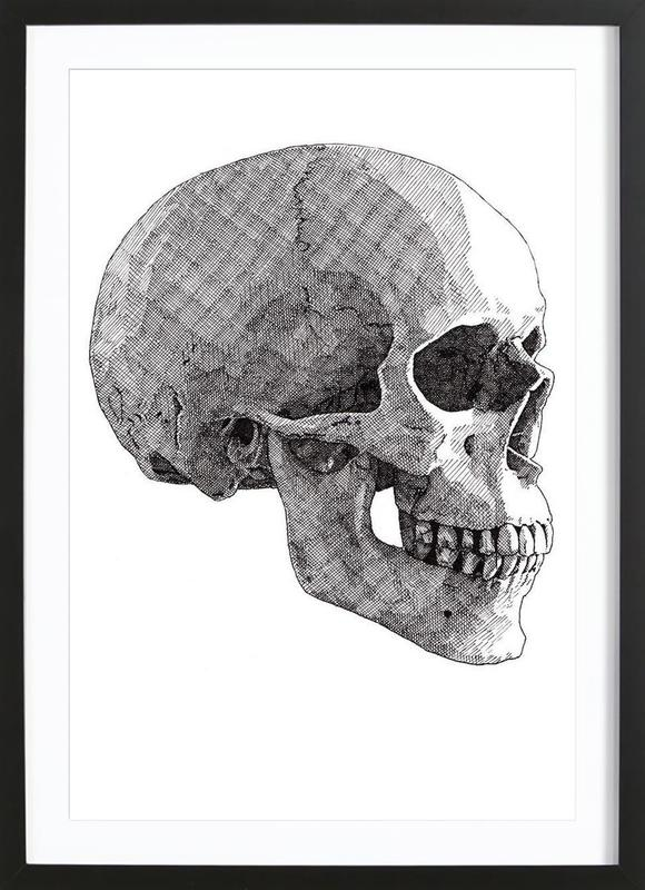 Skull 3 ingelijste print