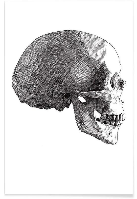 Zwart en wit, Schedels, Skull 4 poster
