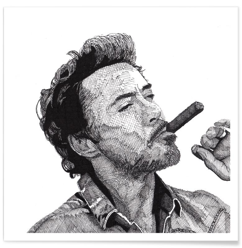 Zwart en wit, Robert Downey Jr. - potloodtekening poster