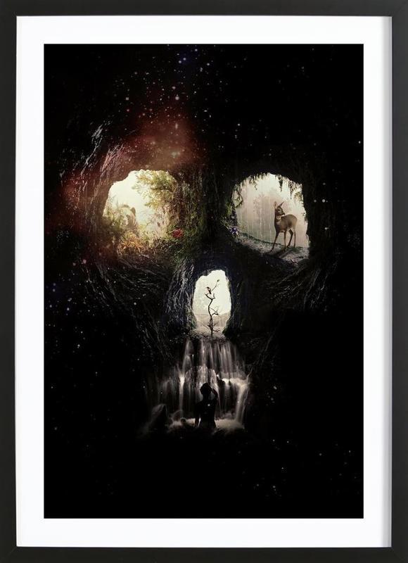 Cave Skull ingelijste print