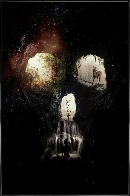 Cave Skull Framed Poster