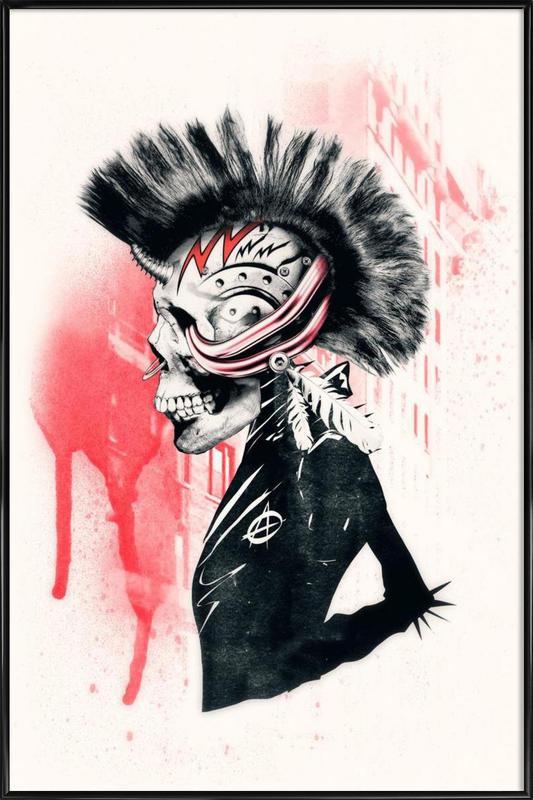 Punk ingelijste poster
