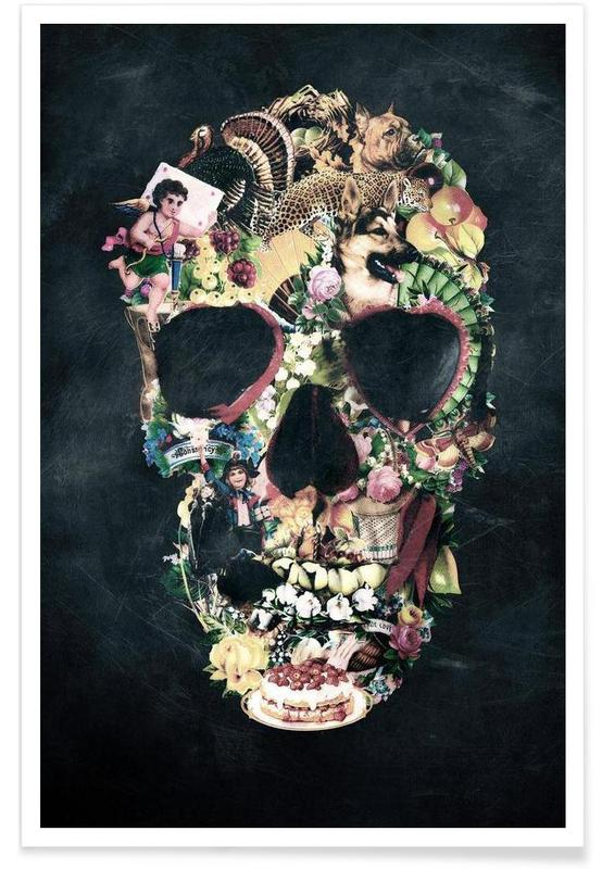 Vintage Skull affiche