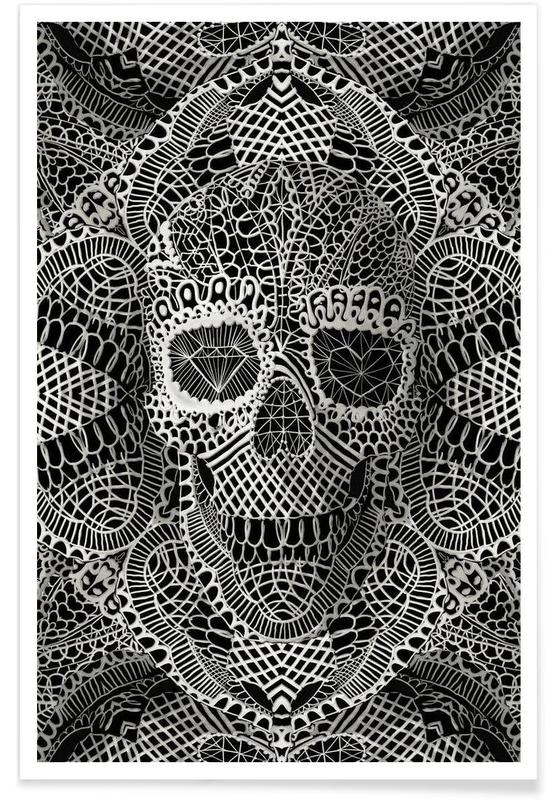 Lace Skull Poster