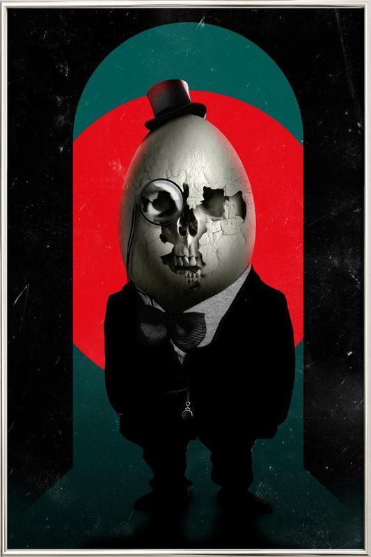 Humpty Dumpty poster in aluminium lijst