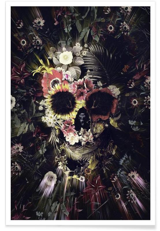 Skulls, Garden Skull Poster