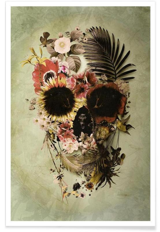 Garden Skull Light -Poster