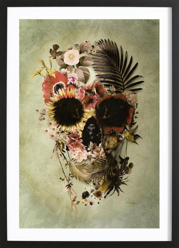 Garden Skull Light Framed Print