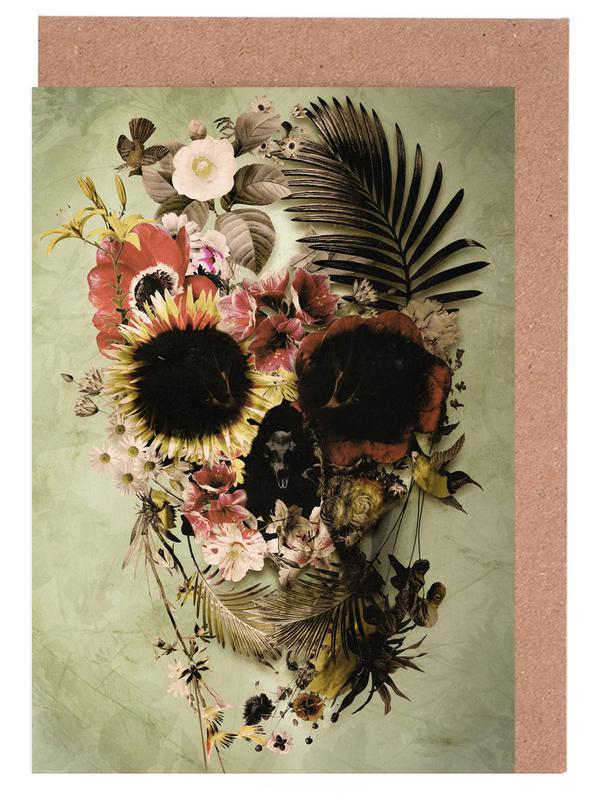 Garden Skull Light Greeting Card Set