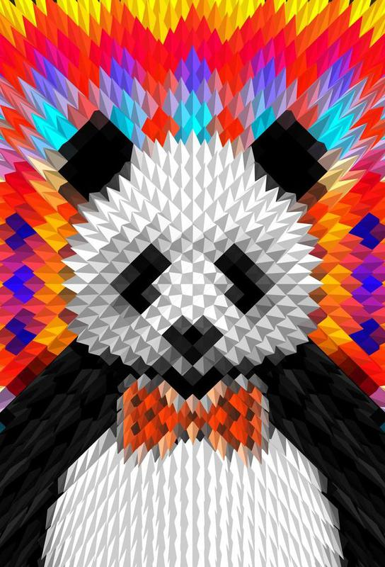 Panda -Acrylglasbild