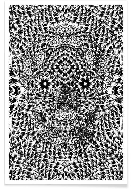 Noir & blanc, Crânes, Skull 7 affiche