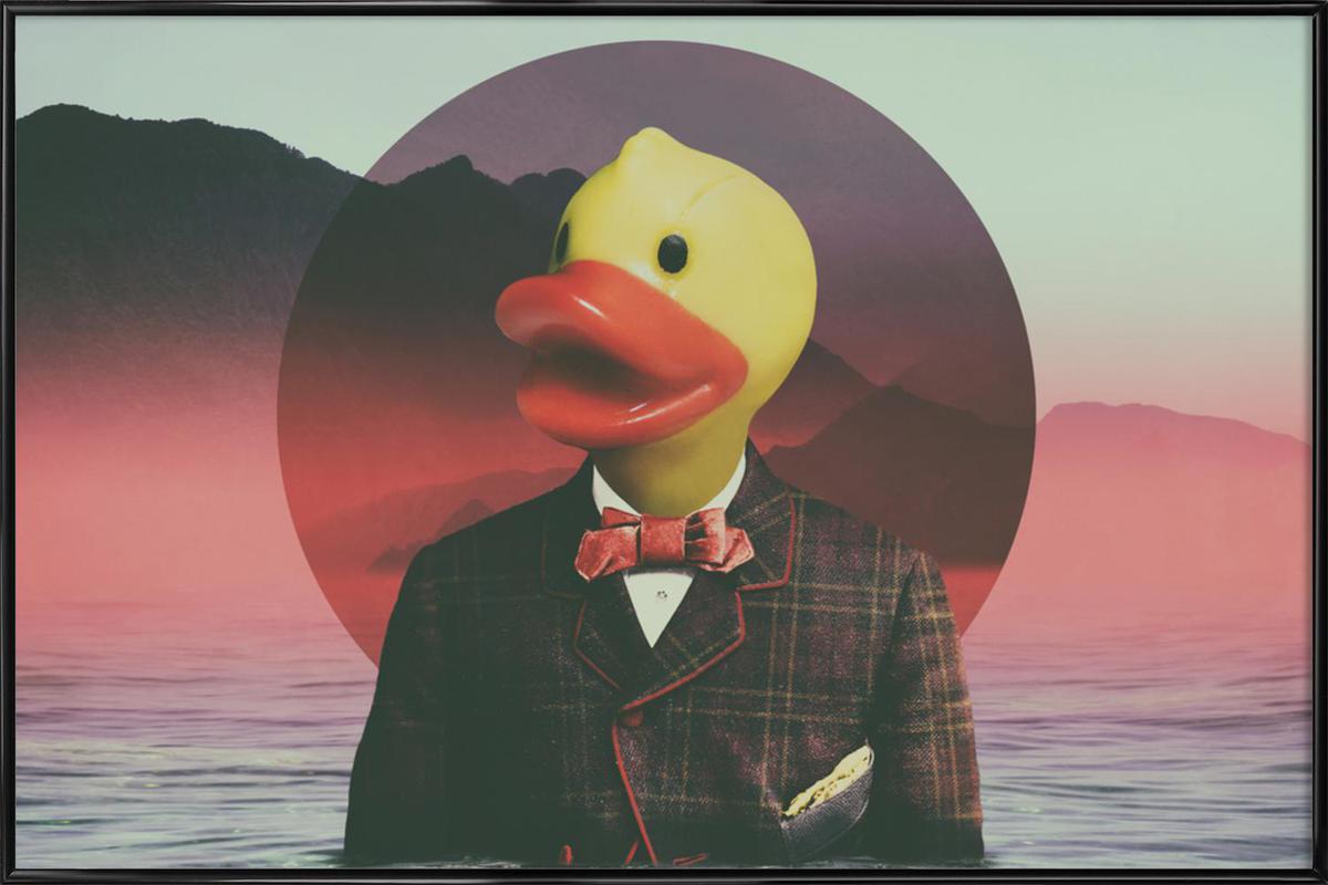 Rubber Ducky -Bild mit Kunststoffrahmen