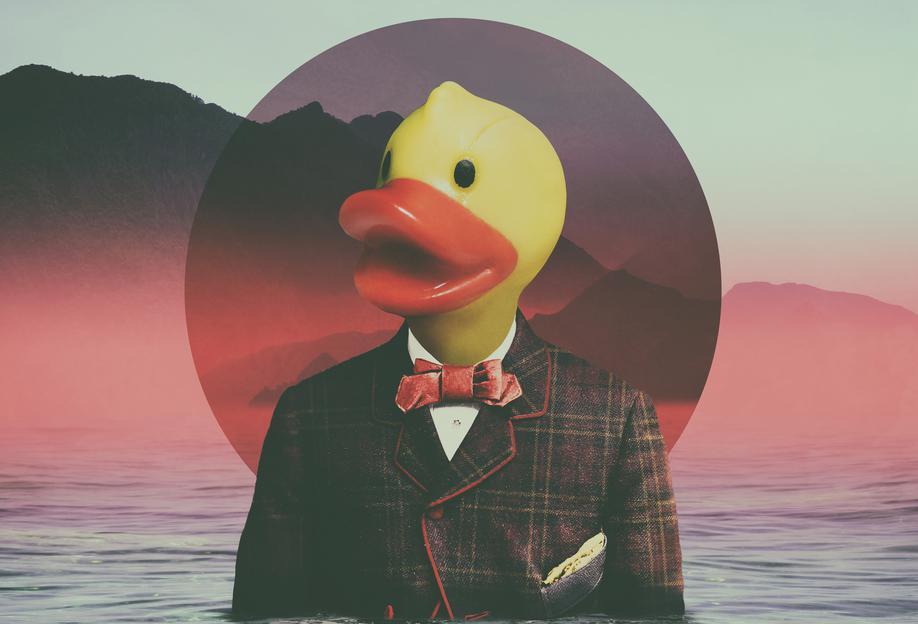 Rubber Ducky -Acrylglasbild