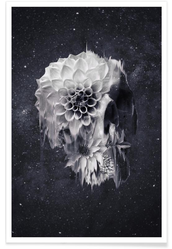 Zwart en wit, Schedels, Decay Skull poster