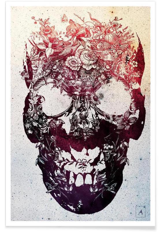 , Floral skull affiche