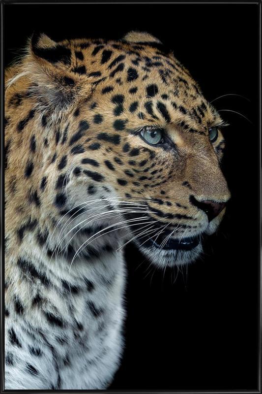 Panthere Portrait Version 2.0 - Laurent Lothare Dambreville Framed Poster