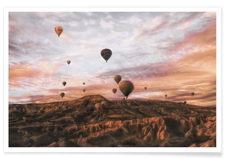 Cappodocia Hot Air Balloon - Ayse Yorgancilar -Poster