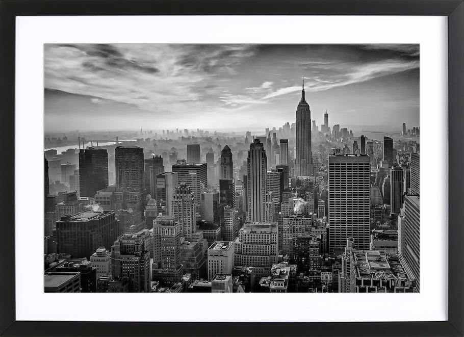Hazy Gotham - Stefan Schilbe Framed Print