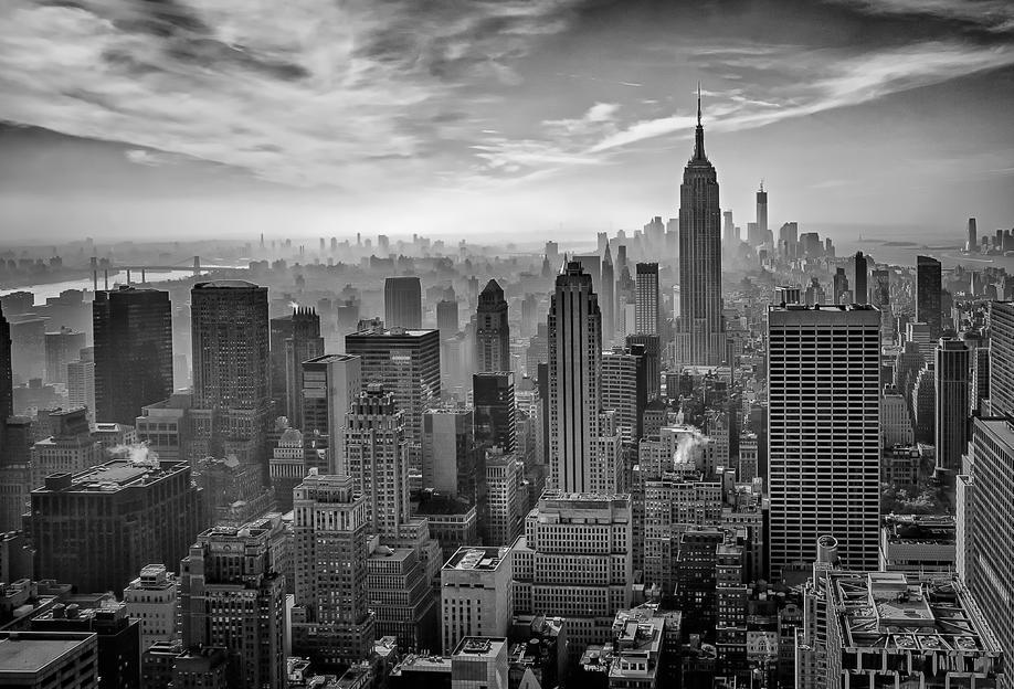 Hazy Gotham - Stefan Schilbe -Acrylglasbild