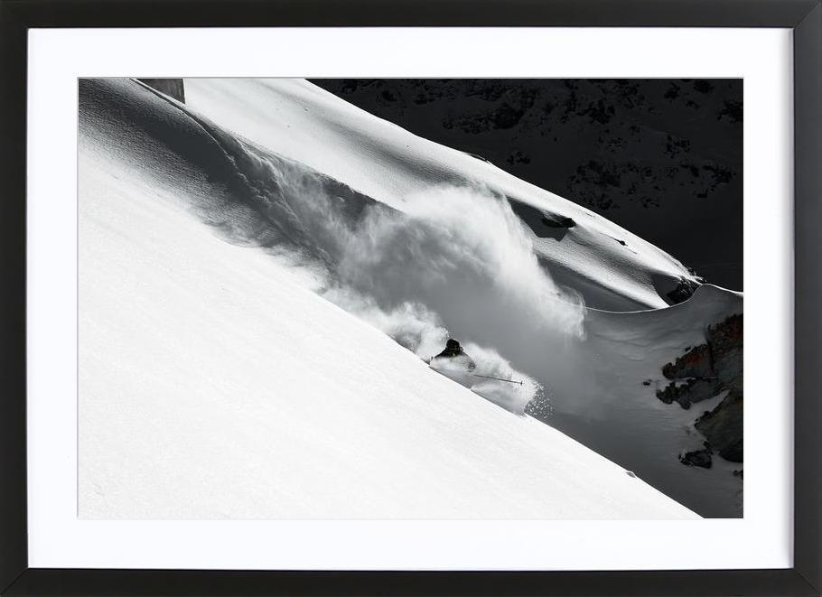 Cloud of Snow - Jakob Sanne Framed Print