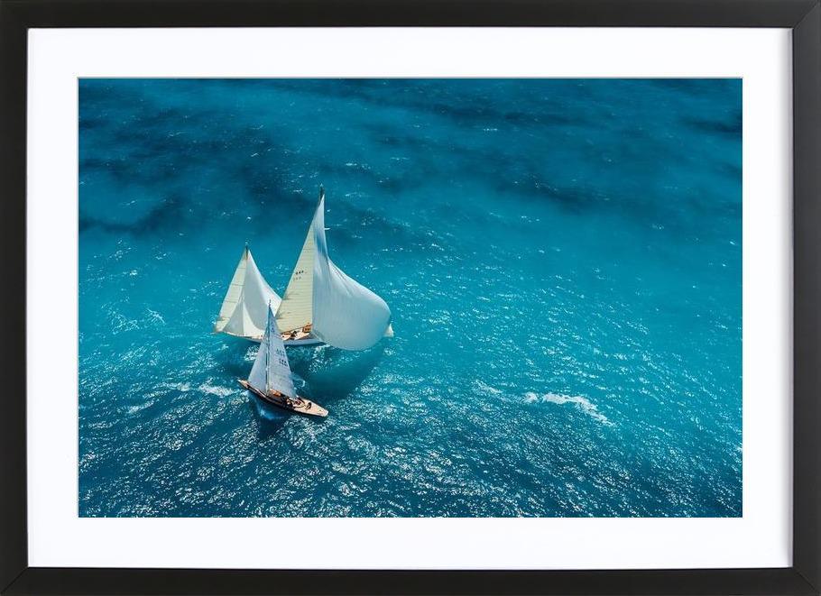 Croisement bleu - Marc Pelissier Framed Print