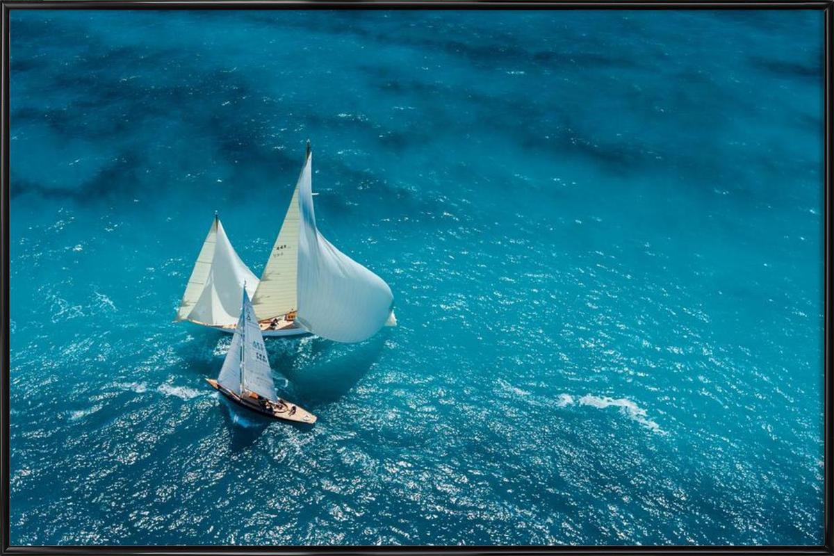 Croisement bleu - Marc Pelissier Framed Poster