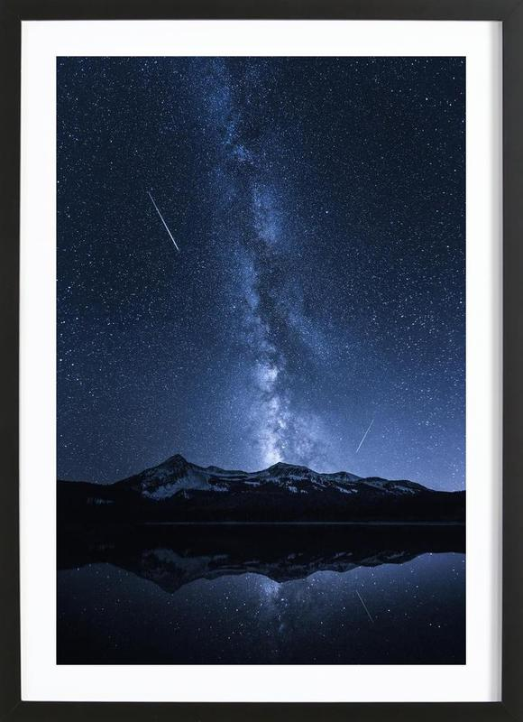 Galaxies Reflection - Toby Harriman Framed Print