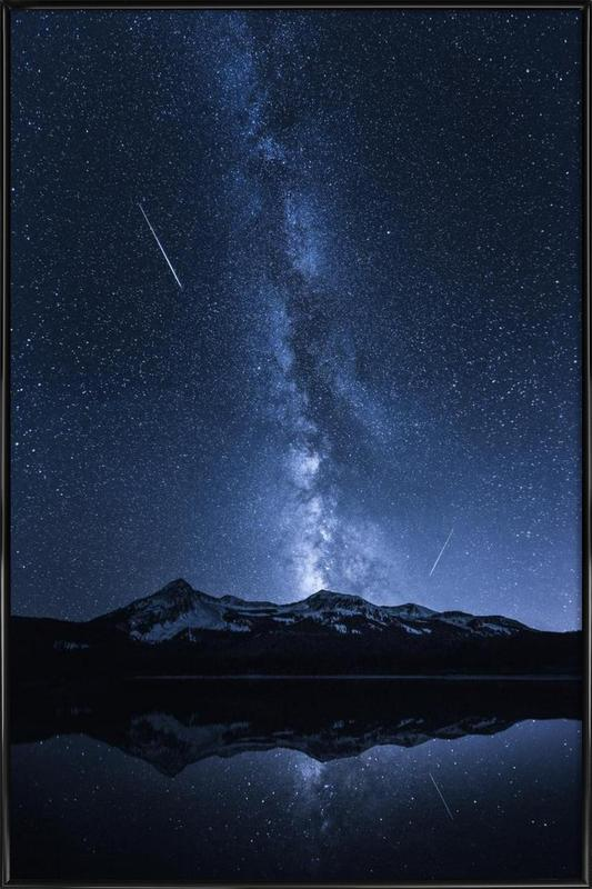 Galaxies Reflection - Toby Harriman Framed Poster
