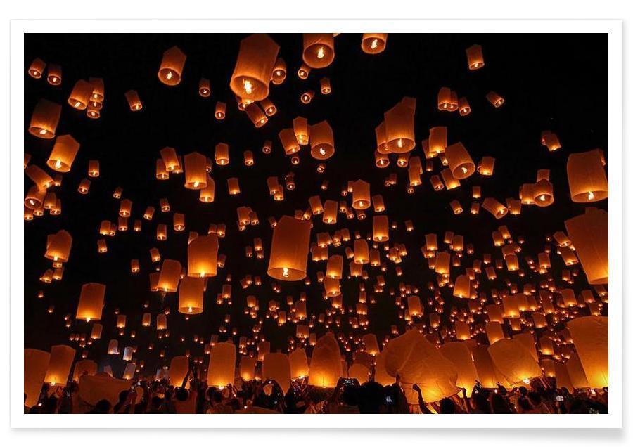 Floating Lanterns - Vichaya affiche