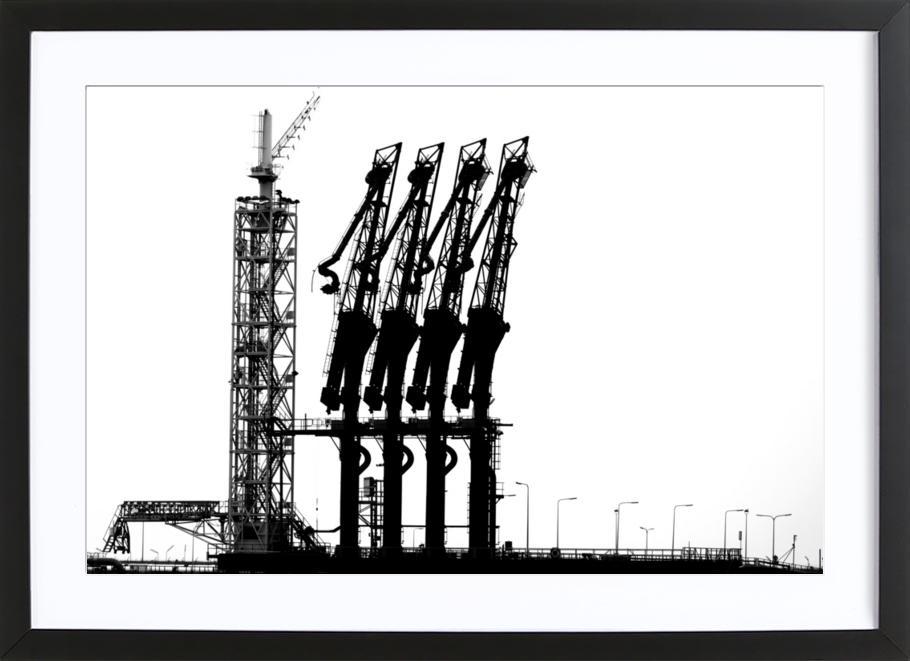 Rotterdam Harbour - Jan Nietzen Framed Print