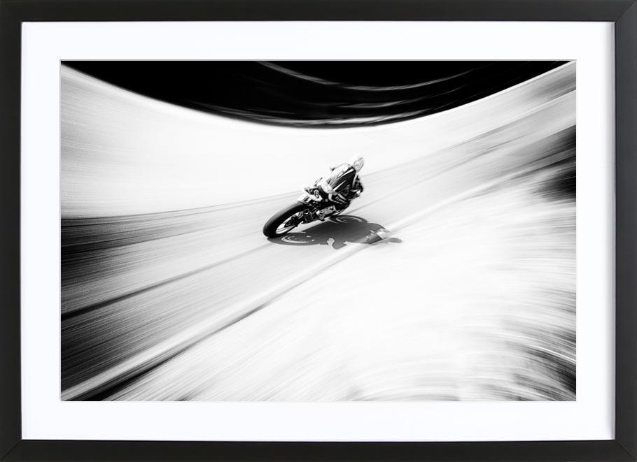 A Smoother Road - Paulo Abrantes affiche sous cadre en bois