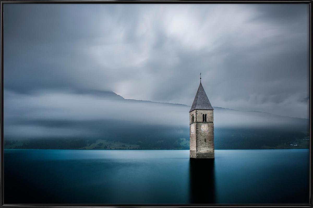 Church of Graun - Leon -Bild mit Kunststoffrahmen