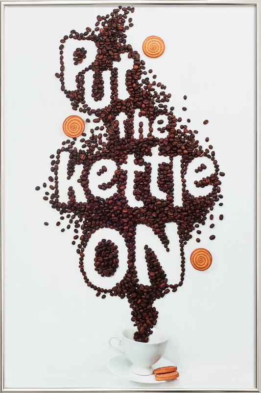 Put The Kettle On! - Dina Belenko poster in aluminium lijst