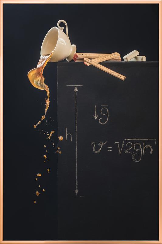 A Study With Free Fall - Dina Belenko poster in aluminium lijst