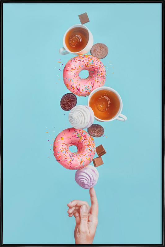 Weekend Donuts - Dina Belenko -Bild mit Kunststoffrahmen