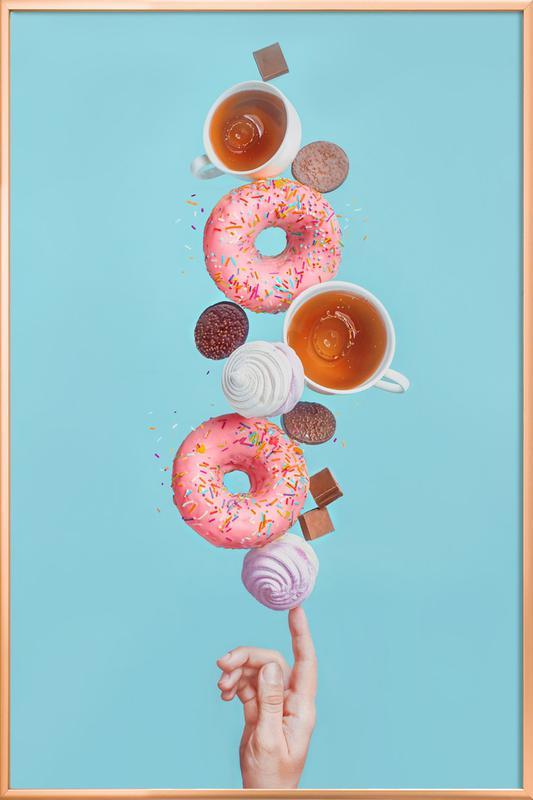 Weekend Donuts - Dina Belenko poster in aluminium lijst
