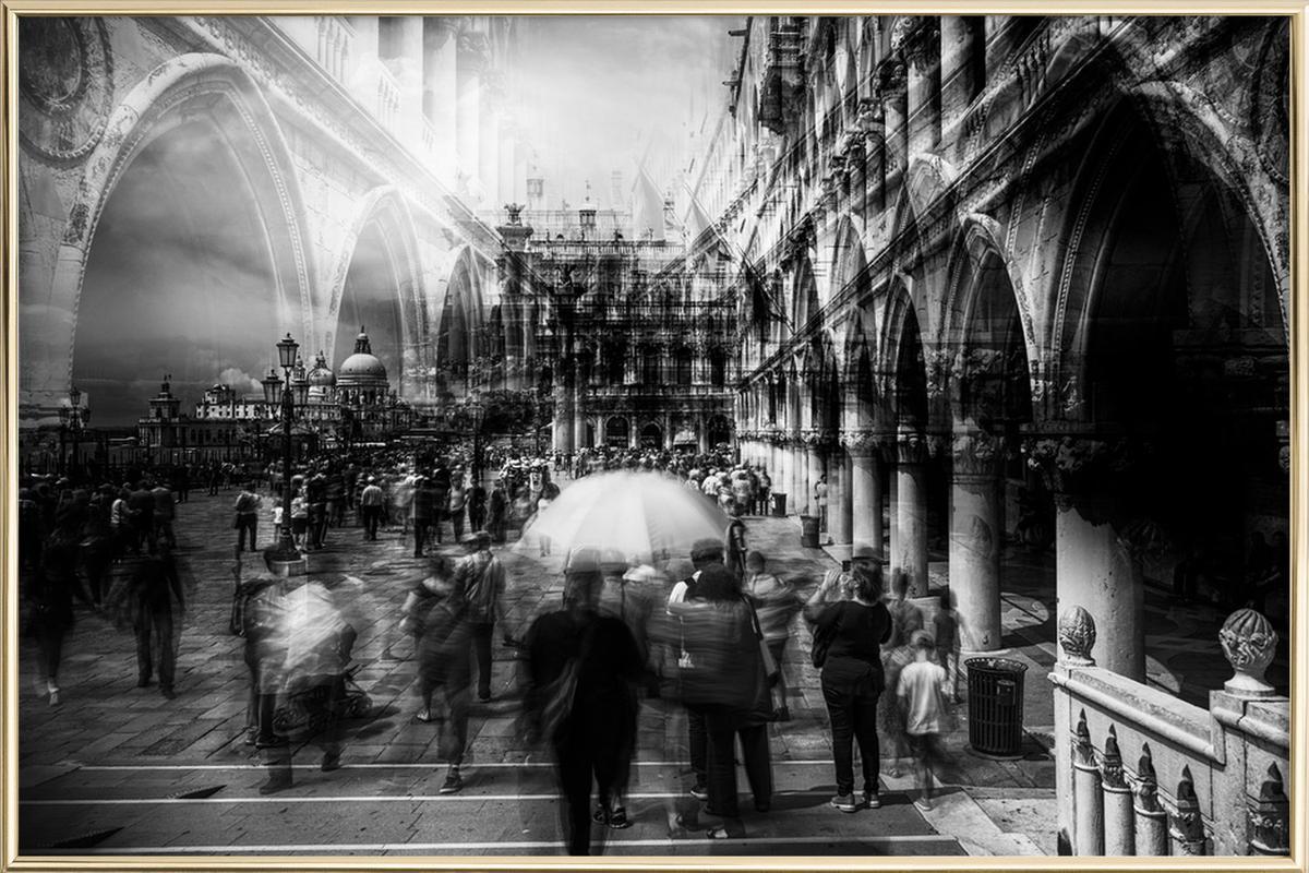 The Tourists - Carmine Chiriaco' poster in aluminium lijst