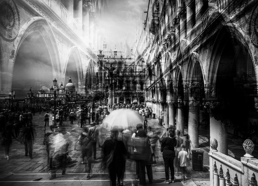 The Tourists - Carmine Chiriaco' canvas doek