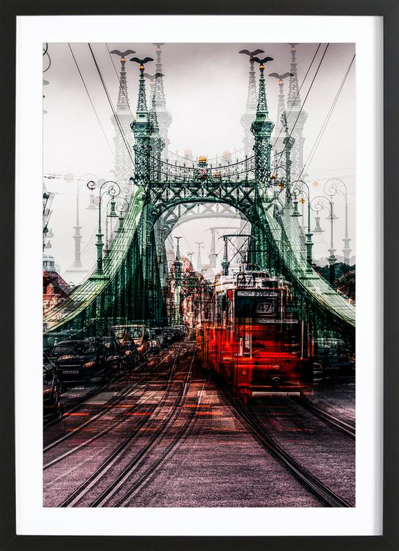 On The Tram - Carmine Chiriaco' ingelijste print