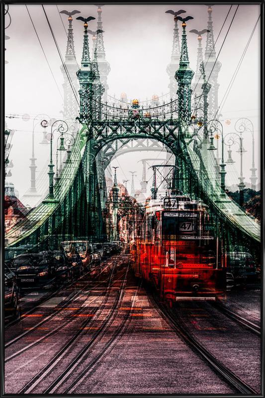 On The Tram - Carmine Chiriaco' ingelijste poster