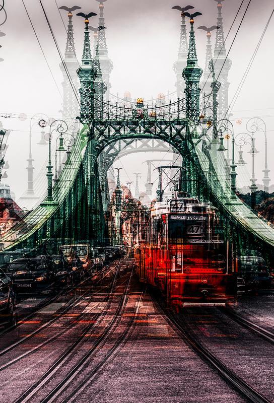 On The Tram - Carmine Chiriaco' alu dibond