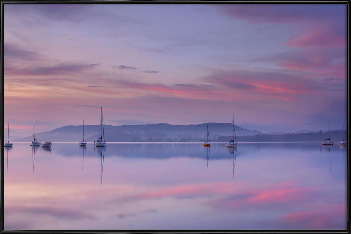 Pink Morning - Margarita Chernilova -Bild mit Kunststoffrahmen
