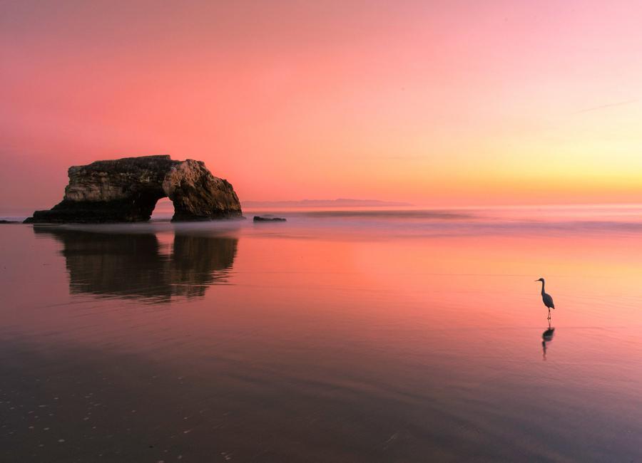 Sunset at the Natural Bridge 2 - Rob Li Canvas Print